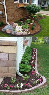Design a Small Side Yard Garden Under The Downspout _sideyardgarden _downspoutlandscape