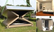 Dutch firm invents folding hotel which can be packed up in 10 minutes