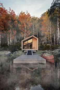 Flat_pack Great Lakes cabin is designed to weather the coldest of winters
