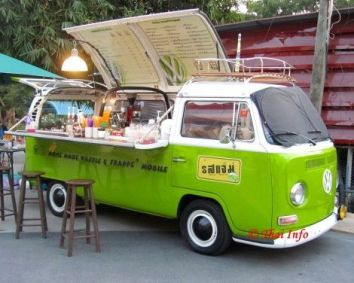 Food Rings Ideas & Inspirations 2017 _ DISCOVER .This is EXACTLY why I always wanted a VW Samba_ to cater out offffff. ♥ Discovred by _ Ditonio