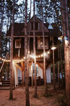 Green building in the woods_ We can definitely get lost here_ _Cabin _Romantic _CabinLove