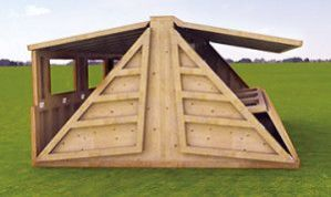 Hush2 natural disaster_war victim shelter_ flat pack for easy transport to location_ 4.3sq meters x 2.4m tall.