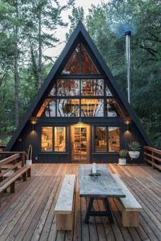 Inverness A_Frame Cabin by Blythe Design Co – Jojotastic — Modern Eclectic lifestyle blog_ pinterest