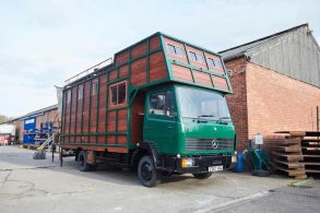 Looking at this converted _Helga_ house truck_ you'd never know it was once a home for horses rather.