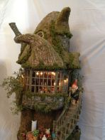 Miniature Gnome House made out of paper clay