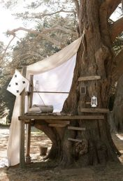 Now that spring is in full swing_ I'm itching to do a DIY project. If you recall_ we have an awesome maple tree in