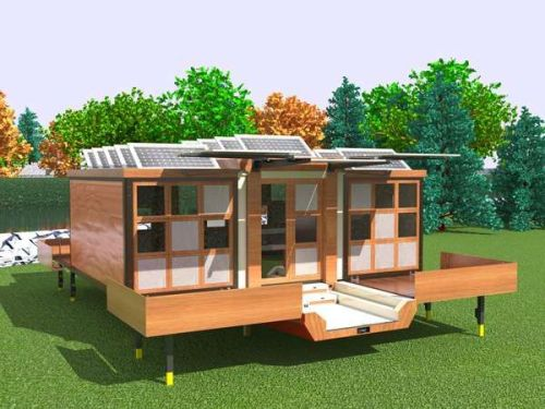 Portable solar home (via trendhunter.com). Such a great idea. Only European roads might be a bit tight for it _)