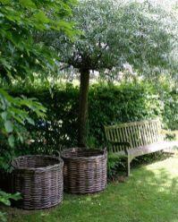 Pretty baskets in the garden