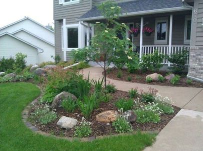 Pretty front yard landscape images decoration with incredible images. _frontyardlandscapingdesign _frontyardlandscapingdecor _homeyard _landscapingdesign