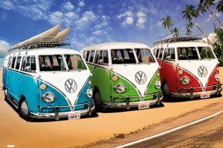 Reinders Schilderij VW Californian Camper _ beach _ Deco Panel _ 90 x 60 cm _ no. 22195