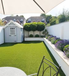 Small Backyard Ideas _ From upright yards to miniature storage and water functions_ these landscapin... _smallbackyard _backyardideas _smallbackyardideas