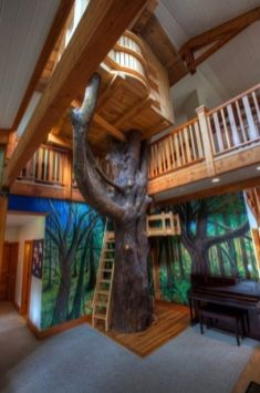 Some might think an indoor tree house defeats the purpose_ but imagine this is your actual room. In your house. Th