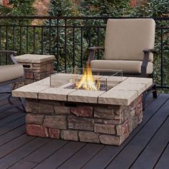 Stylish patio modern fire pit decorating ideas trends for 2018. _firepit _FirePitsRock _backyardview _homedecor