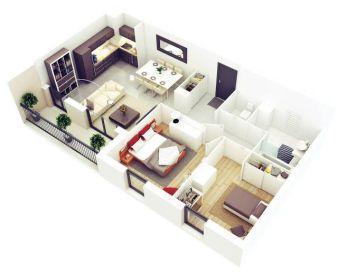 TOP 3D FLOOR PLAN IDEAS OF 2018 _ 3D FLOOR PLAN DESIGNS RENDER IN 3D MAX WITH VRAY