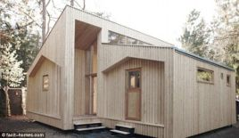 This house is put together with no nails etc and can be recycled__ facit_homes.comThe ultimate DIY project_ The flat pack house can be quickly assembled