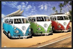 _VW California Campers_ Framed Photographic Print