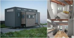 When it comes to tiny houses_ you're typically working with the same 8 foot wide limitations which o. But that's not the case with the Aurora by ZeroSquared of Canada.