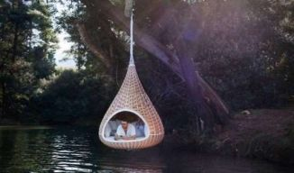 be nice to curl up inside & read a good book... but it must include a mosquito net though
