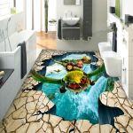 Amazing 3D Floor Mural For Living Room, Bathroom & Bedroom Design