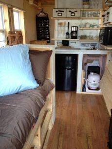 shirleys mortgage free tiny house interior construction 001a 600x799 Building a Tiny House Interio