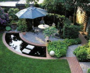 zen garden two rocks to serve as mountain in a sea backyard residential japanese garden _ Homelilys