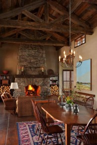 A-classic-ranch-house-in-Montana-fireplace