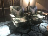 Armchairs-with-green-floral-leaf-pattern