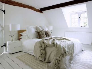 Attic-bedroom-decor-with-a-minimalist-touch