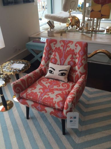 Chair-with-eye-pillow-with-shade-of-red