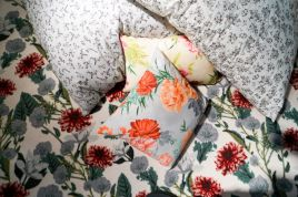 Collection-of-fabrics-with-a-cool-floral-pattern
