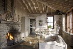 Cottage-Style-Home-Interior-With-Fireplace