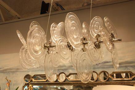 Cyan-design-glass-disk-lighting-fixture
