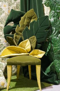 Floral-pattern-chair-with-leaf-shaped-back