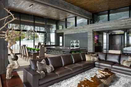 Jaw-dropping-luxury-mountain-chalet-in-Montana-open-space-living-room
