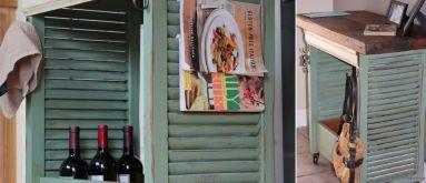 Kitchen-island-from-window-shutters