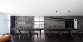 Modern-Elegant-Bachelor-Pad-large-dining-table