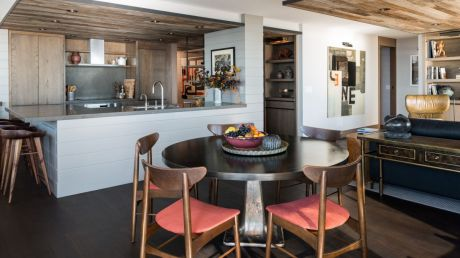 Seattle-Apartment-Man-cave-Interior-kitchen-and-round-table