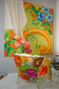 Summer-colors-floral-patterns-on-canvas-painting-and-furniture