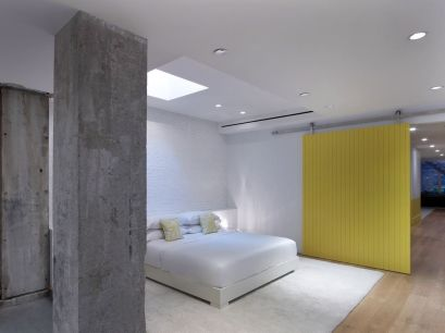 White-bedroom-frame-and-yellow-wall