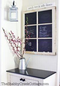 Window-frame-chalkboard-Entryway-Message