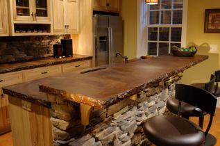 Wood-Block-countertop-and-stone-bar