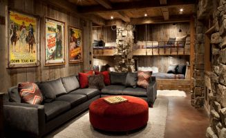 another-mountain-residence-bedroom-featuring-rocks-wall-and-bunk-beds