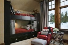 black-furniture-bunk-beds-iron-ladder