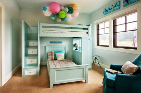 turquoise-toddler-bunk-beds