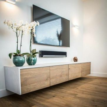 a-chic-whitewashed-and-light-stained-floating-TV-unit-is-a-very-elegant-and-cool-idea-for-many-rooms
