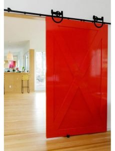 red-barn-door-plywood-kitchen-Bestor-Architecture-interior-door-design-ideas-230x300