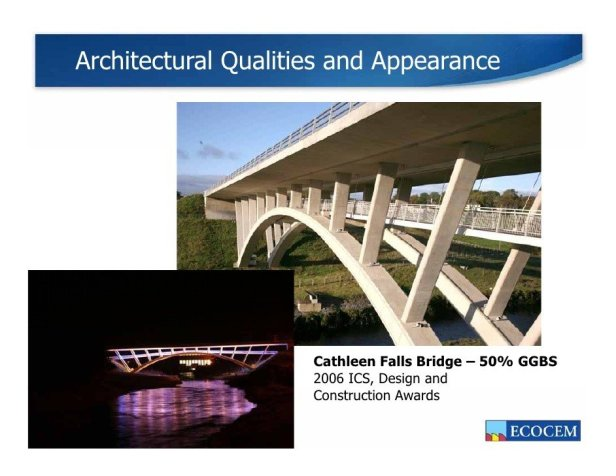 GGBS concrete bridge (SlideShare.net)