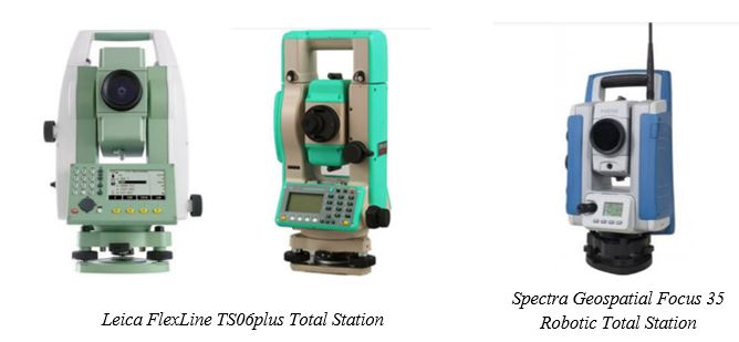 Total Station Models from Various Total Station Manufacturers