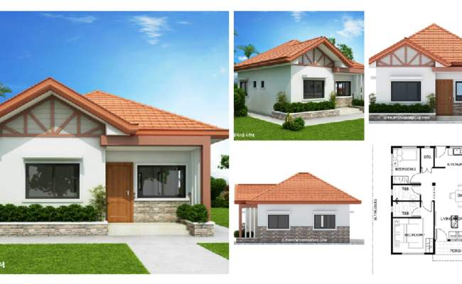 Two Bedroom Small House Design Phd 2017035 Engineering