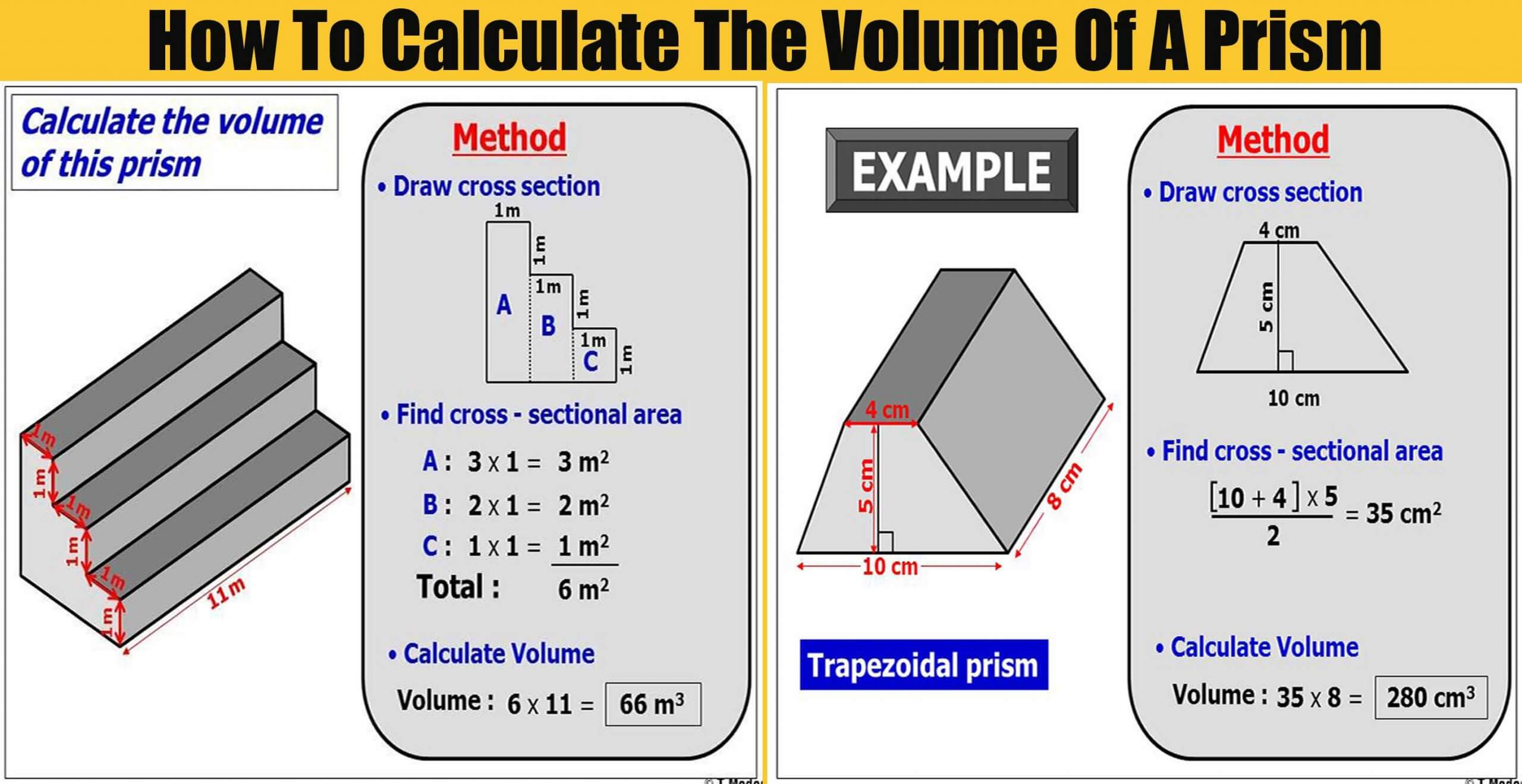 How To Calculate The Volume Of A Prism